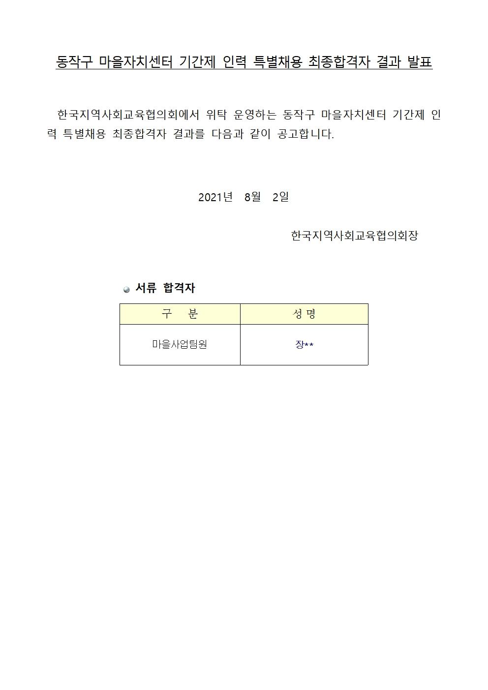 동작구마을자치센터 마을사업팀 특별채용 최종합격자 결과001.jpg